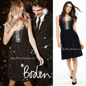 Boden beaded fit & flare dress